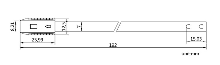metal strap seal CAD